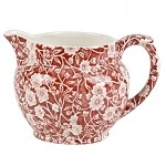 Red Calico 1/2 Pint Dutch Jug