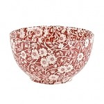 Red Calico Small Rice/Sugar Bowl
