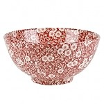 Red Calico Chinese Bowl