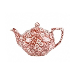 Red Calico Small Teapot