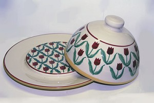 Red Tulip Covered Dish