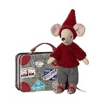 Maileg Travel Pixie Mouse with Suitcase
