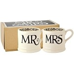 Black Toast and Marmalade Mr  and  Mrs Set Of 2 Baby Mugs Boxed