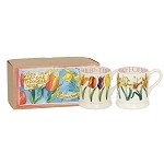 Flowers Set of 2 1/2pt Mugs Boxed