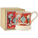 The Queen's 90th Birthday 1/2 Pint Mug Unicorn and Lion