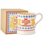 The Queen's 90th Birthday 1/2 Pint Mug Boxed