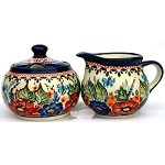 Polish Creamer and Sugar Set 149AR