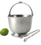 Match Pewter Bar Ice Bucket with Tongs