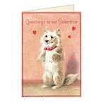 Cavallini Valentine Dog with Letter