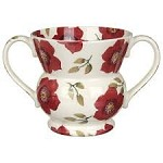 Christmas Rose Two Handled Vase