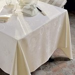 Mille Eclats Chocolate Blanc Tablecloth and Accessories