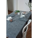 Mille Charms Coated Tablecloth Anthracite 69 Round