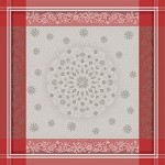 Snowflakes Tablecloth Green Sweet  69 x 120