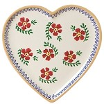 Old Rose Heart Plate