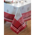 Snowflakes Tablecloth Green Sweet 45 x 45