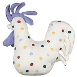 Polka Dot Chicken Doorstop