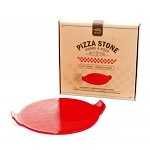 Pizza Stone with Red Handles