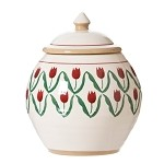 Nicholas Mosse Red Tulip Cookie Jar