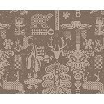 Mille Deer 45 x 45 Tablecloth  Brown