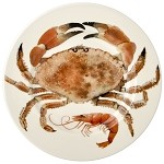 Shellfish Crab 8.5 inch Lunch Plate