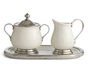 Arte Italica Tuscan Cream  and  Sugar Set