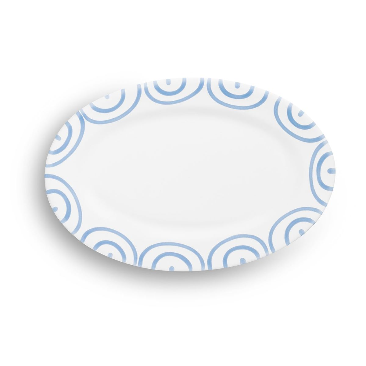 Dizzy Blue Small Oval Plate