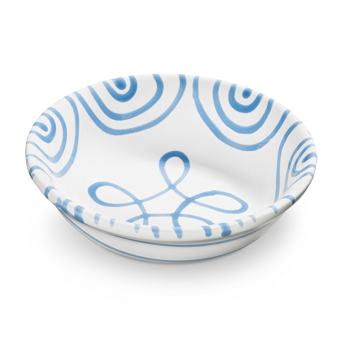 Dizzy Blue Cereal/Compote Dish 5.5