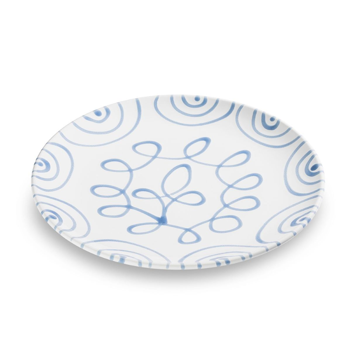 Dizzy Blue Coupe Dinner Plate 9.8