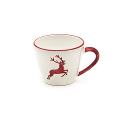 Ruby Red Deer Gourmet Coffee Cup 6.8 oz