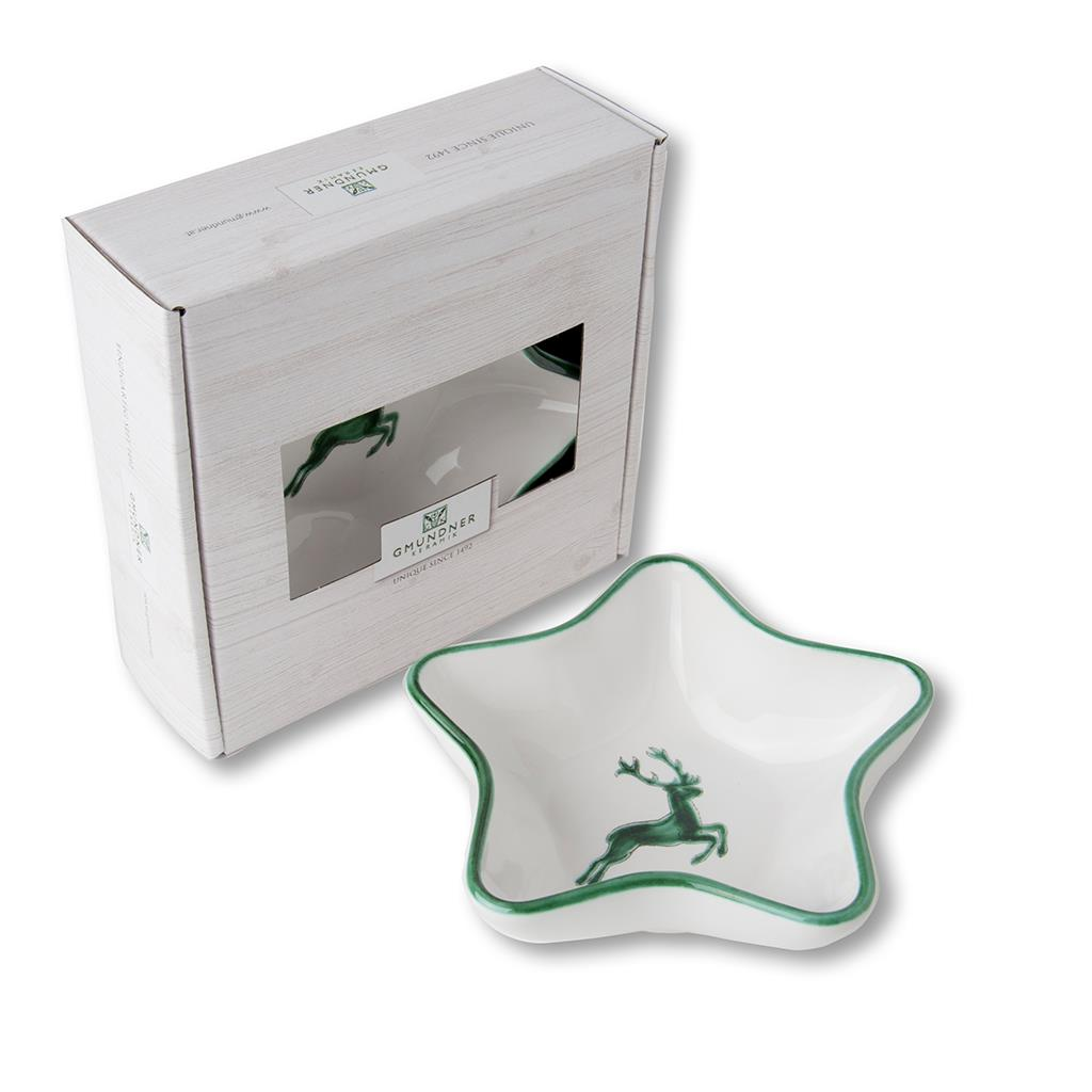 Green Deer Star Dish 5.5 inch- order for 2021