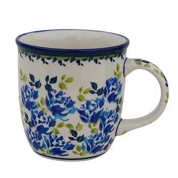 Polish Pottery Blue Flower 12 oz Mug