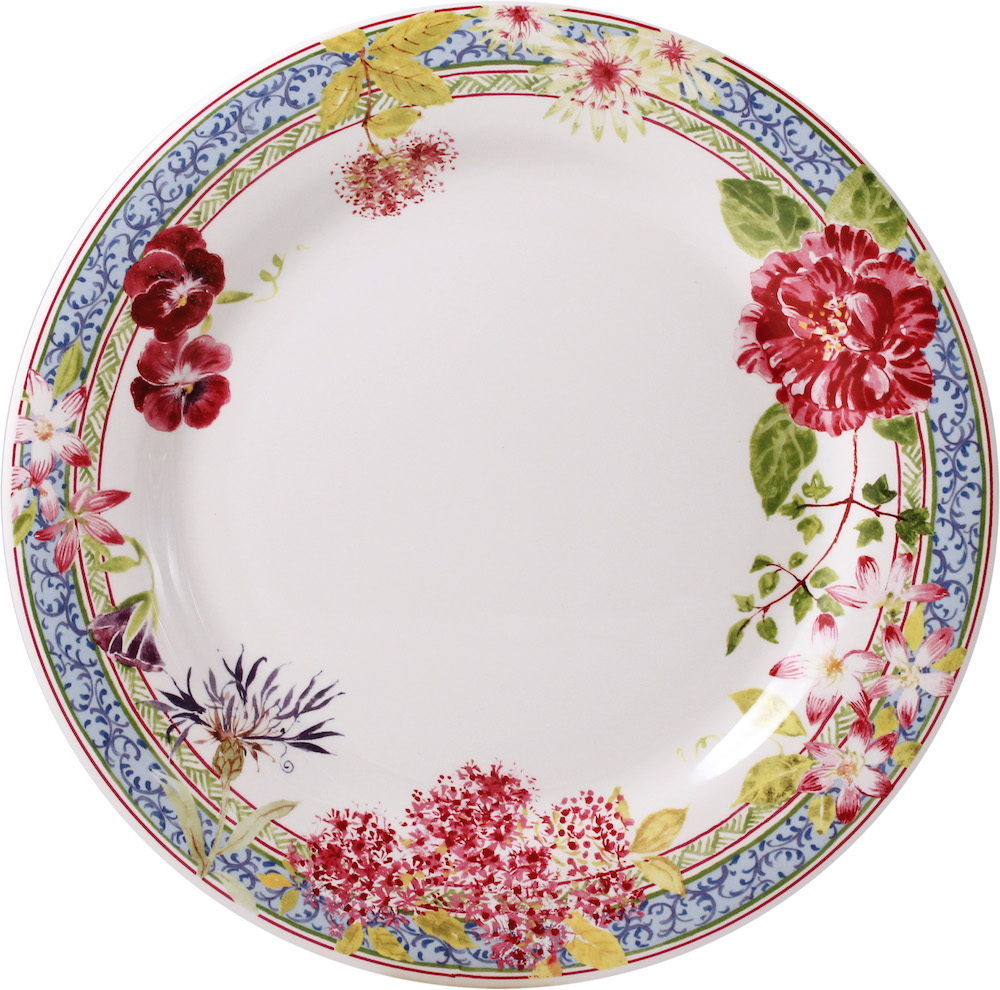 Gien Millefleurs Dinner Plate set/4 - allow 6-8 weeks