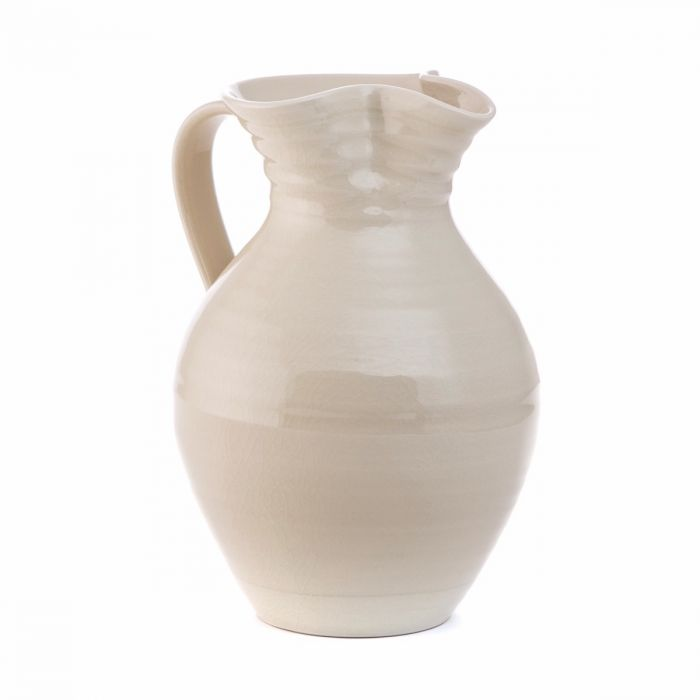 Belmont Crackle Ivory Pitcher