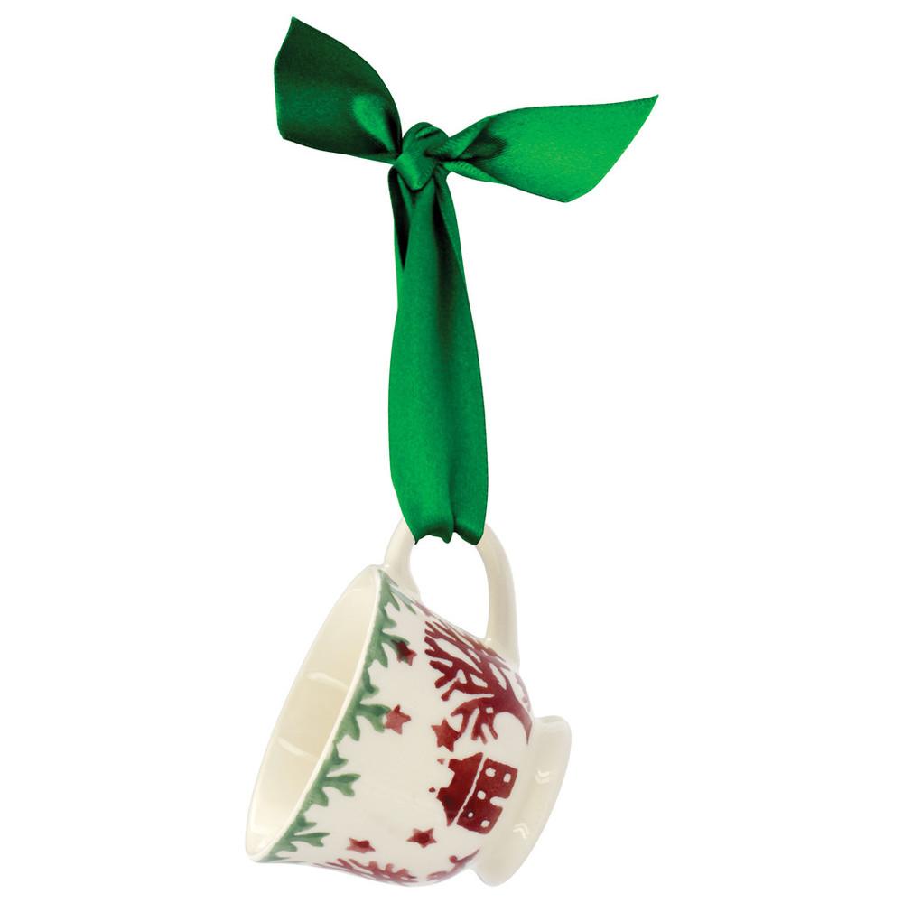 Christmas Joy Tiny Teacup Tree Decorated Box