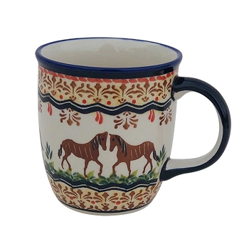 Polish Pottery Pony 12 oz Mug