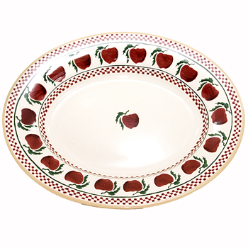 Apple Small Oval Serving Dish