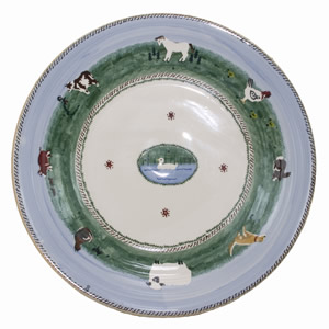 Landscape Mixed Animal Shallow Dish