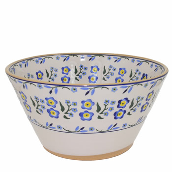 Forget Me Not Large Angled Bowl