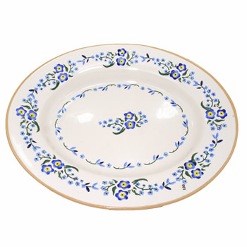 Forget Me Not Small Oval Serving Dish