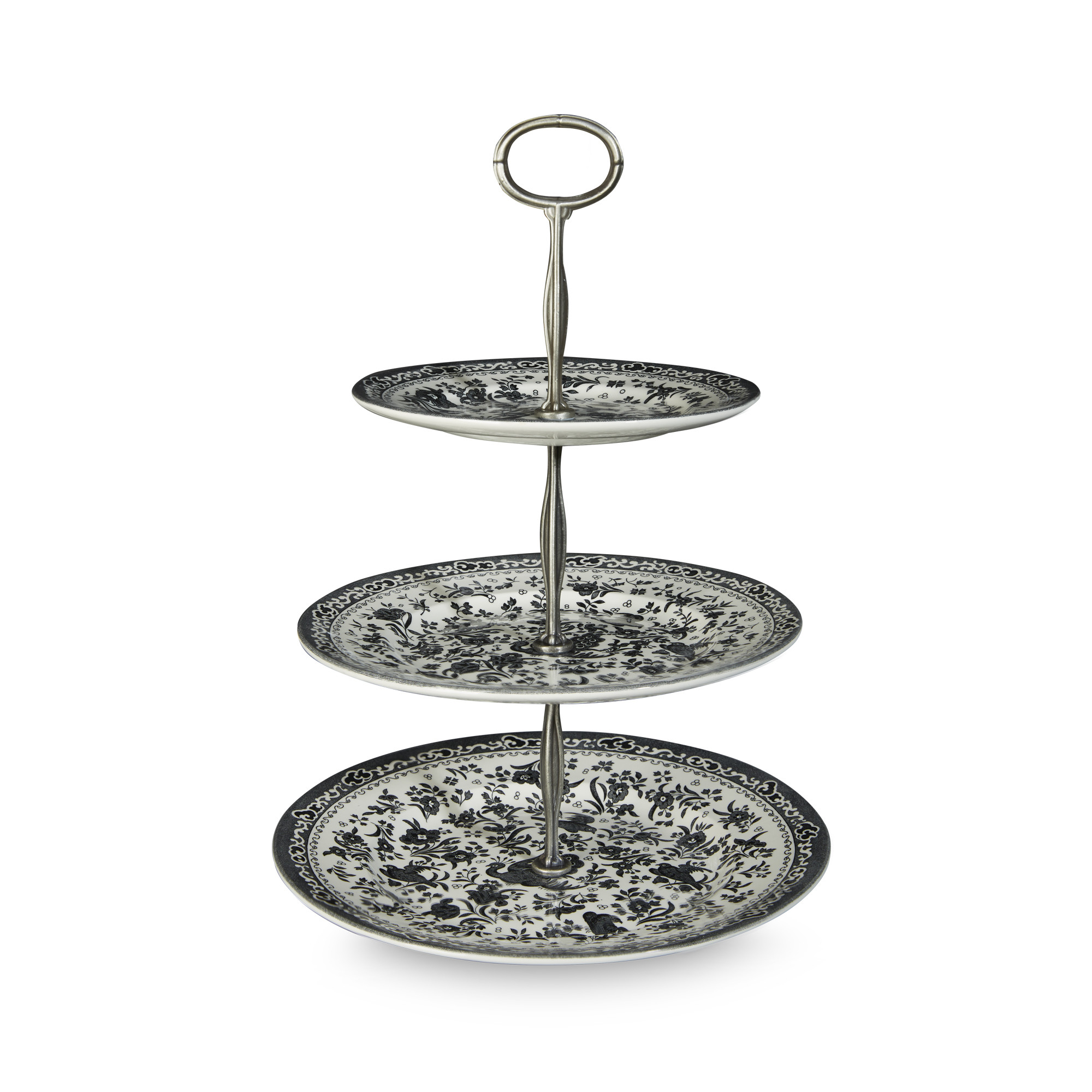 Black Regal Peacock 3 Tier Cake Stand (Gift Boxed) -On Back Order