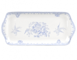 Blue Asiatic Pheasant Rectangular Tray