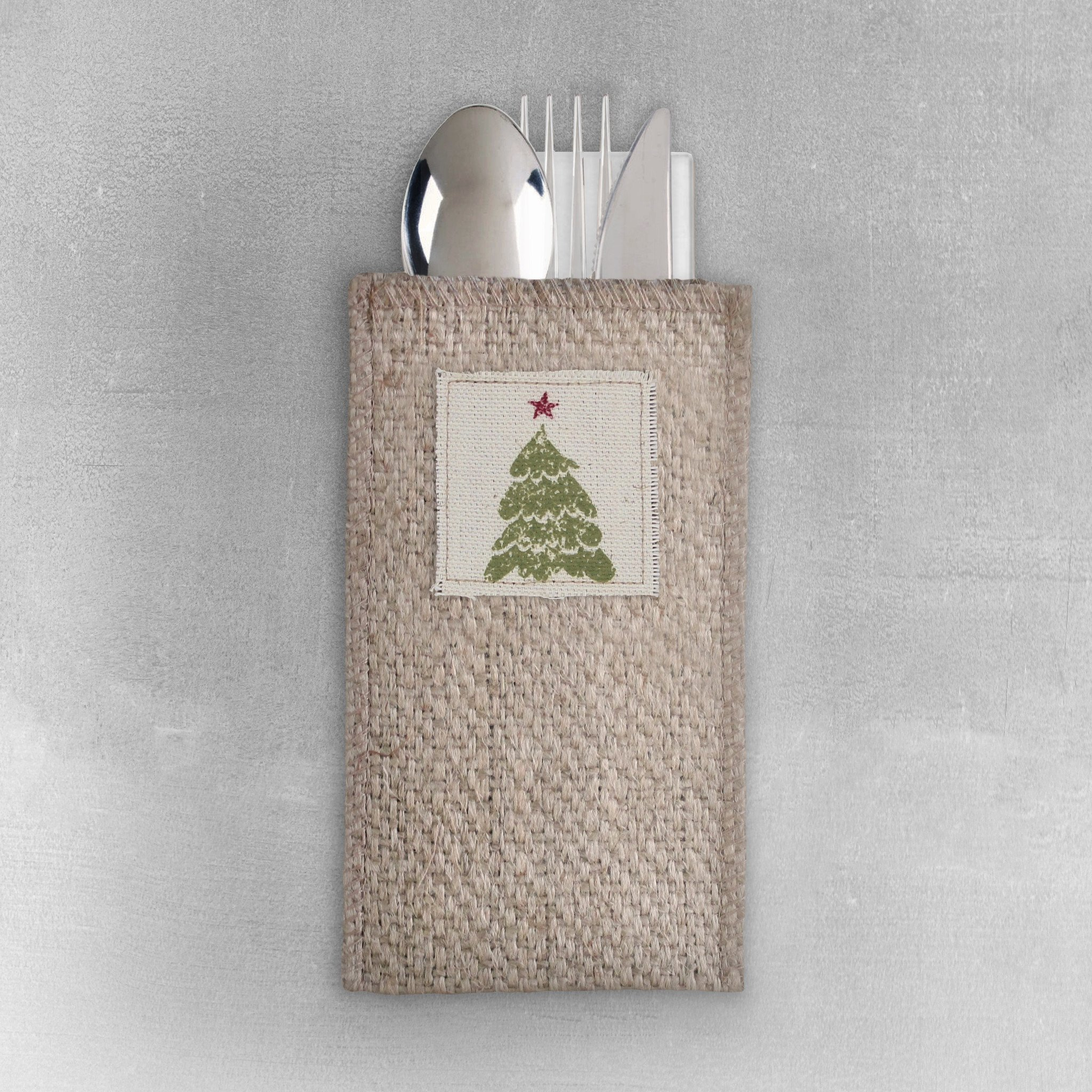 Christmas Tree set/8 Cutlery Holder