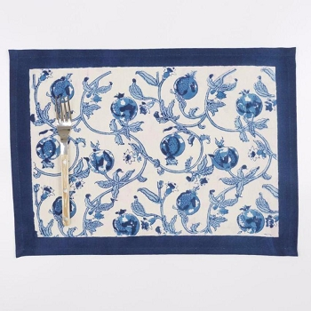 Granada Blue  Placemat set/6