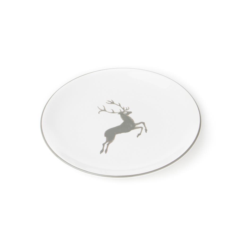 Gmundner Keramik Grey Deer Coupe Dessert Plate 7 9