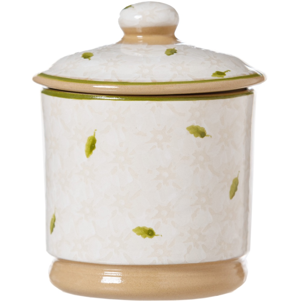 White Lawn Lidded Sugar Pot