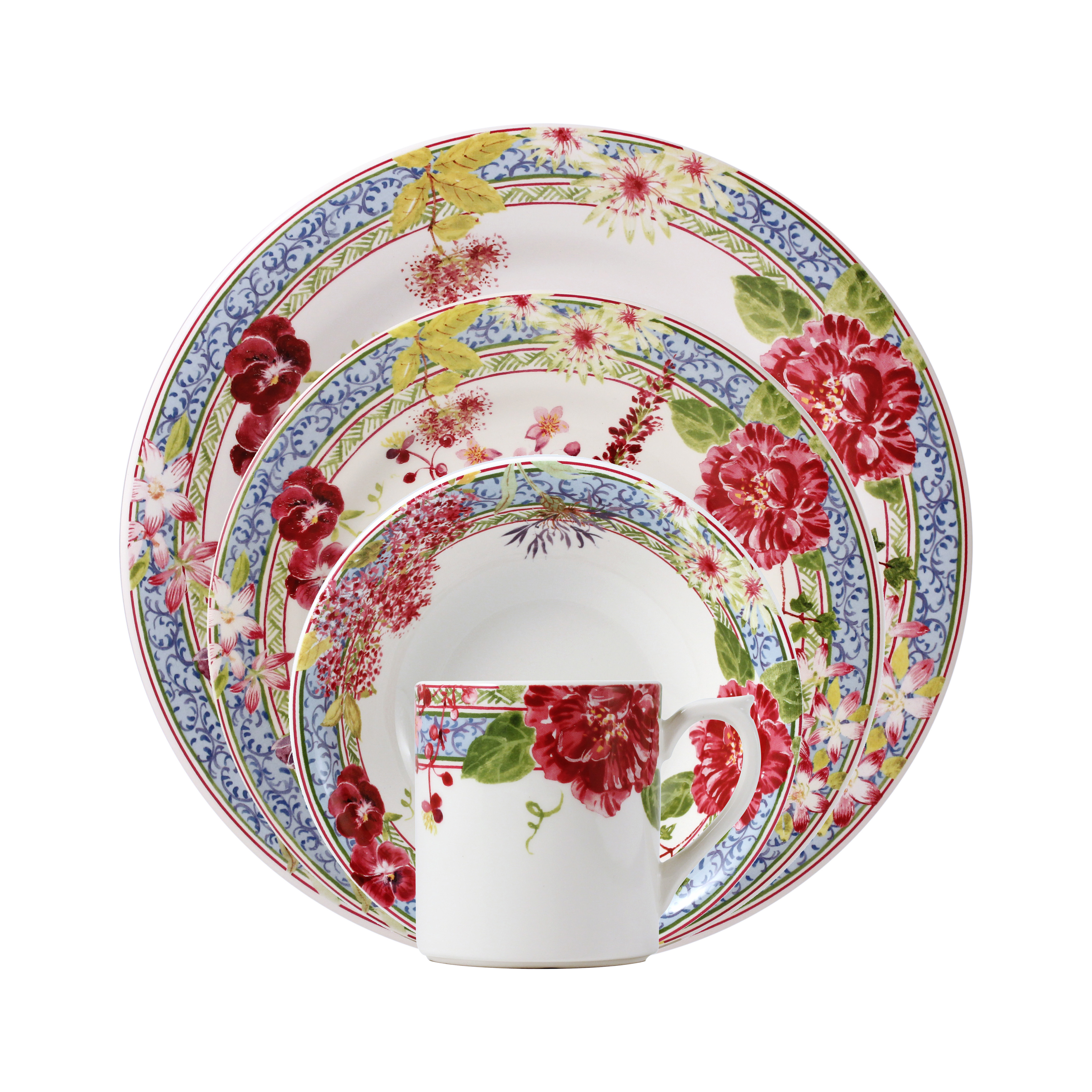 Gien Millefleurs 4 Piece Place Setting- allow 6-8 weeks