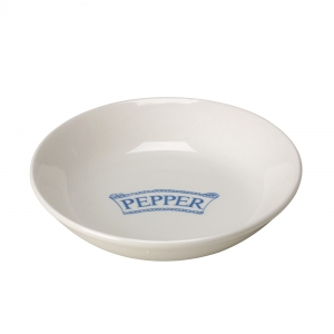 Pantry Pale Blue Badged Pepper Pinch Pot - 9 available