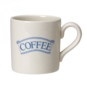 Pantry Pale Blue Badged Coffee 2/3 Pint Mug - 5 available