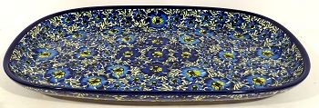Polish Blue Lagoon Serving Platter