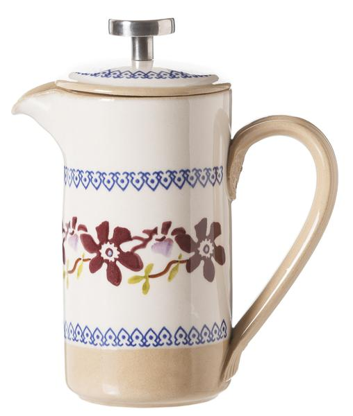 Clematis Small Cafetiere Pot
